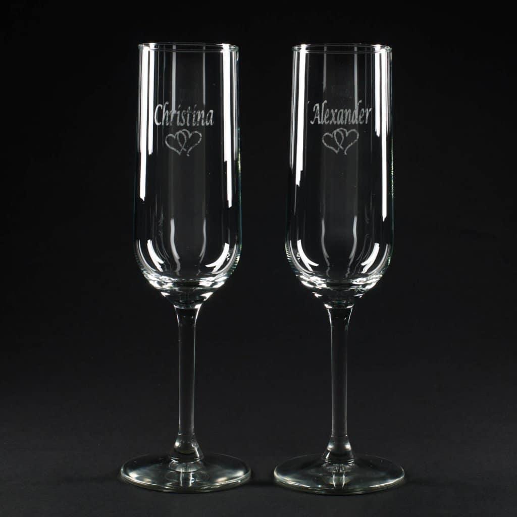 Glas med tekst